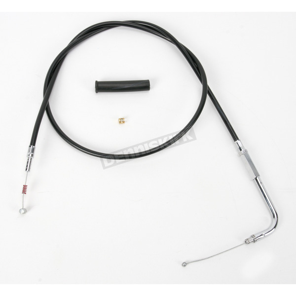 Drag Specialties Alternative Length Black Vinyl Idle Cable for Custom Height/Width Handlebars - 0651-0148