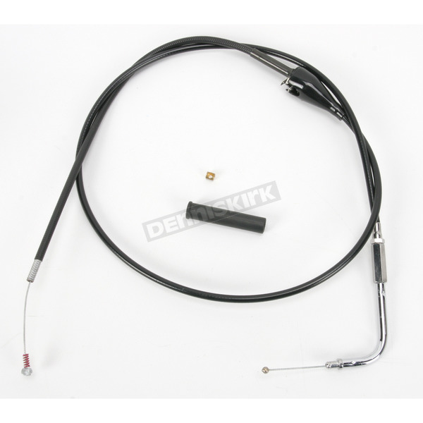 Drag Specialties Alternative Length Black Vinyl Idle Cruise Cable for Custom Height/Width Handlebars - 0651-0186