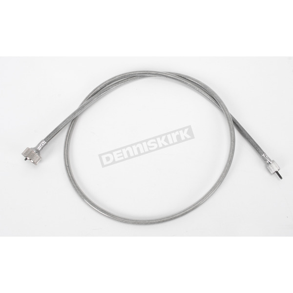 Drag Specialties Clear Coated Stainless Steel Speedometer Cable - 0655-0056