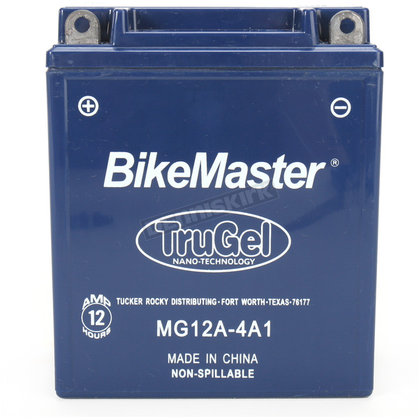 BikeMaster TruGel 12-Volt Battery - MG12A-4A1