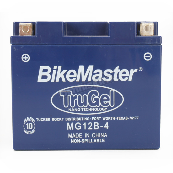 BikeMaster TruGel 12-Volt Battery - MG12B-4