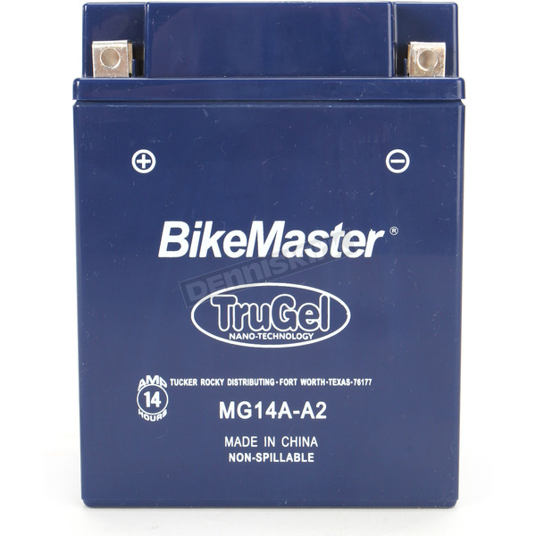 BikeMaster TruGel 12-Volt Battery - MG14A-A2