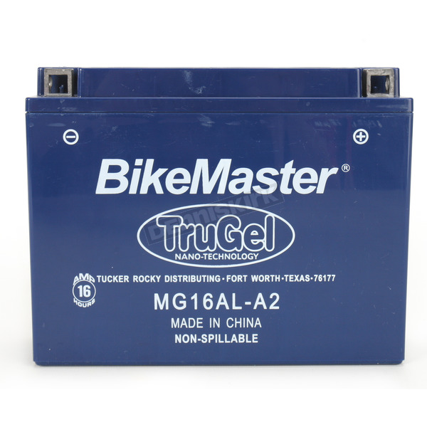 BikeMaster TruGel 12-Volt Battery - MG16AL-A2