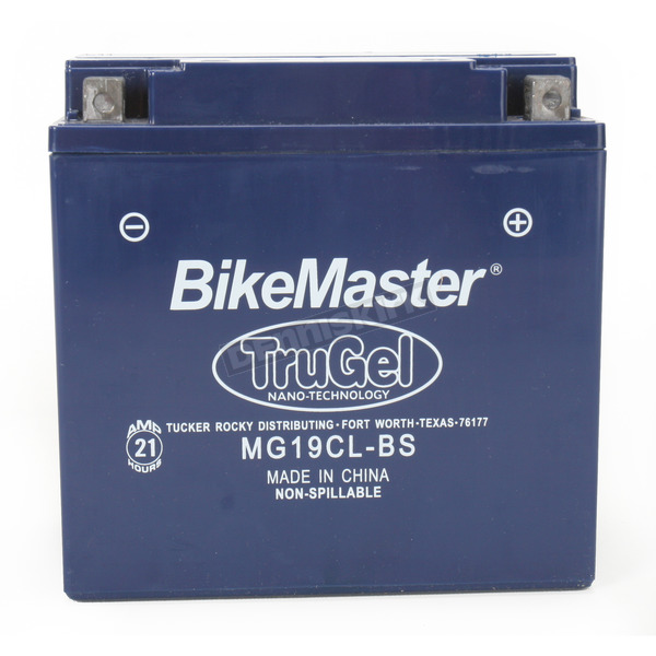 BikeMaster TruGel 12-Volt Battery - MG19CL-BS