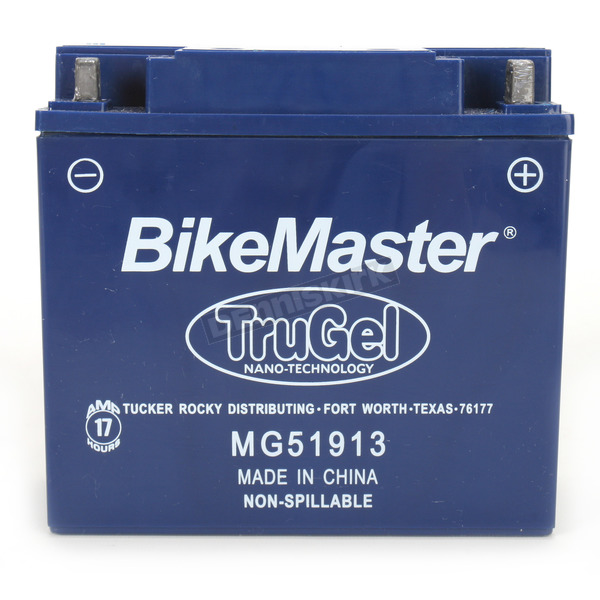 BikeMaster TruGel 12-Volt Battery - MG51913