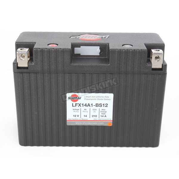 Shorai Xtreme-Rate 12-Volt LifePo4 LFX Lithium Battery - LFX14A1-BS12