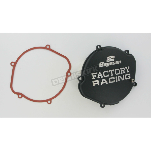 Boyesen Factory Racing Black Clutch Cover  - CC-01B