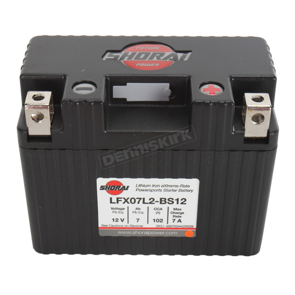Shorai Xtreme-Rate 12-Volt LifeP04 LFX Lithium Battery - LFX07L2-BS12