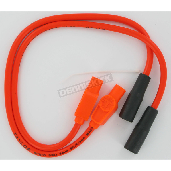 Sumax 8mm Pro Orange Spark Plug Wires w/180 Degree Boot - 20834