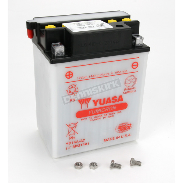 Yuasa Yumicron High Powered 12-Volt Battery - YB14A-A2