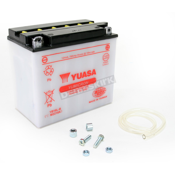 Yuasa Yumicron High Powered 12-Volt Battery - YB16L-B