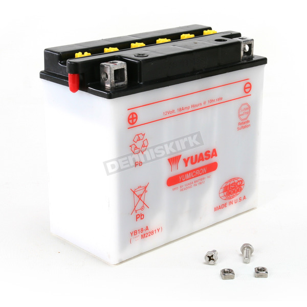 Yuasa Yumicron High Powered 12-Volt Battery - YB18-A