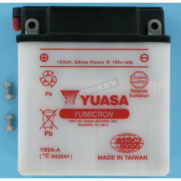 Yuasa Yumicron High Powered 12-Volt Battery - YB9A-A