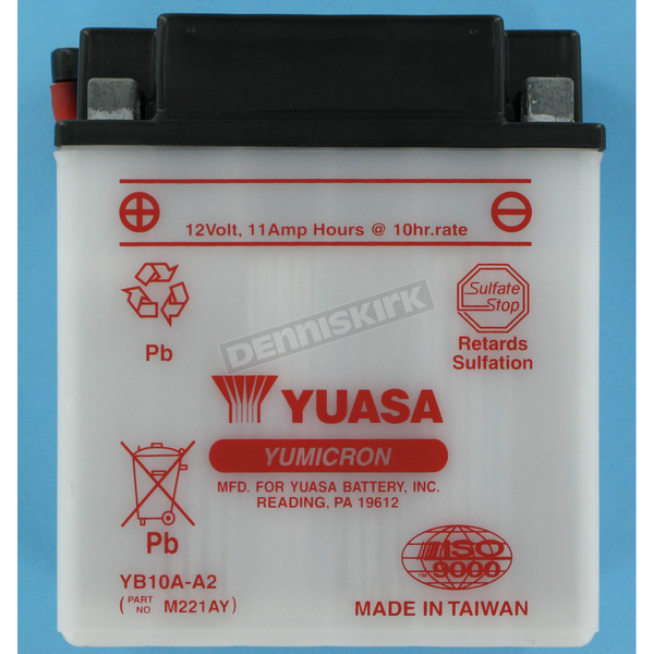 Yuasa Yumicron High Powered 12-Volt Battery - YB10A-A2