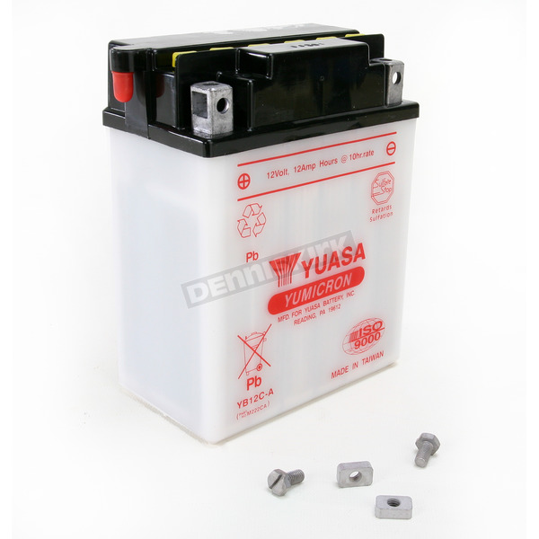 Yuasa Yumicron High Powered 12-Volt Battery - YB12C-A