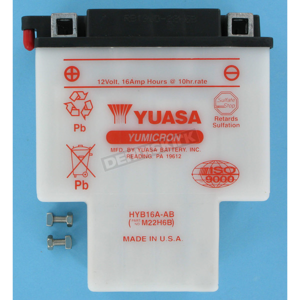 Yuasa Yumicron High Powered 12-Volt Battery - HYB16A-AB