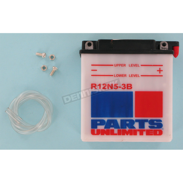 Parts Unlimited Standard 12-Volt Battery - R12N53B