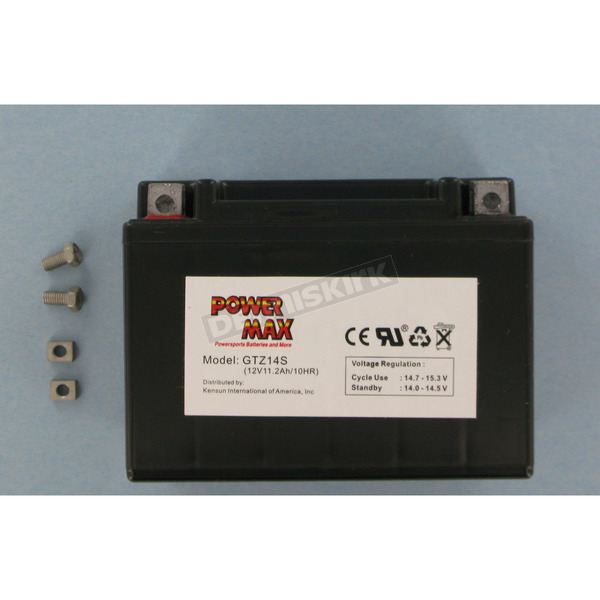 Power Max Maintenance Free Battery - GTZ14S