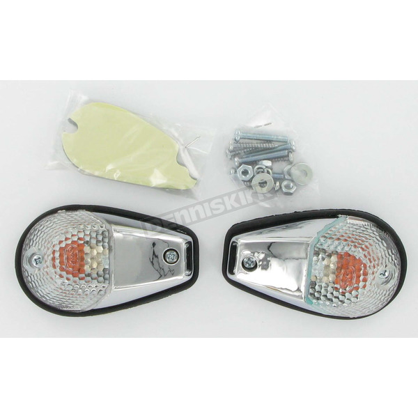 K & S Flush Mount Marker Lights - Chrome w/Clear Lens - 25-8248