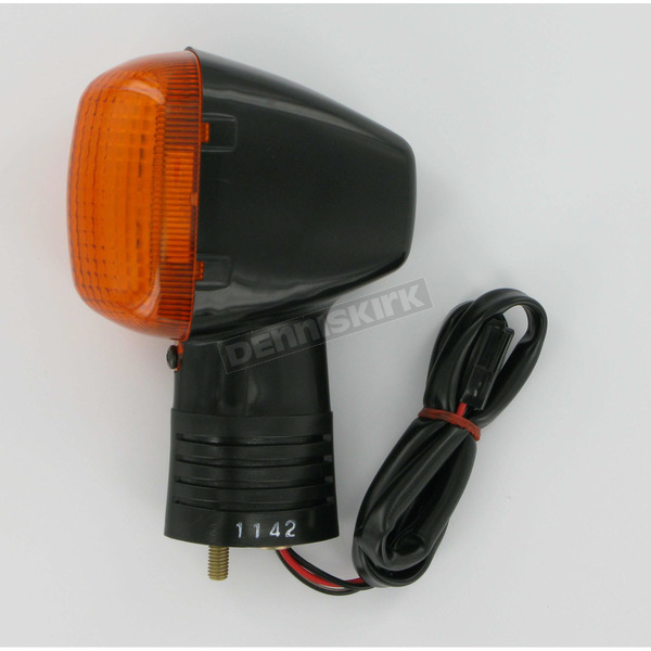K & S Front Left Turn Signal Assembly W/Amber Lens - 25-1142