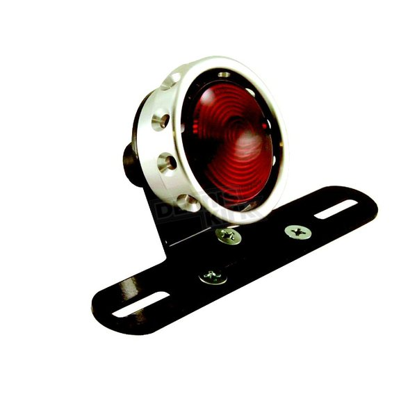 Hardbody Vintage Drilled Taillight for Custom Use w/Raw Ring - 11255
