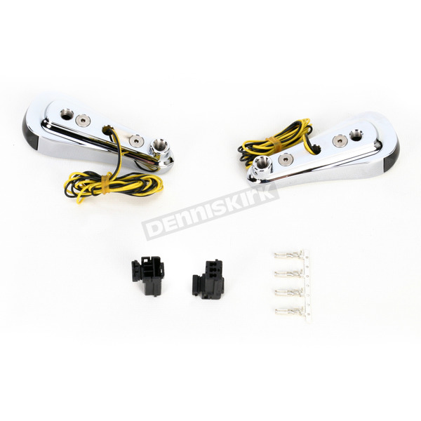 Alloy Art Chrome Smooth LED Front Signal Lights - RGFS1-1