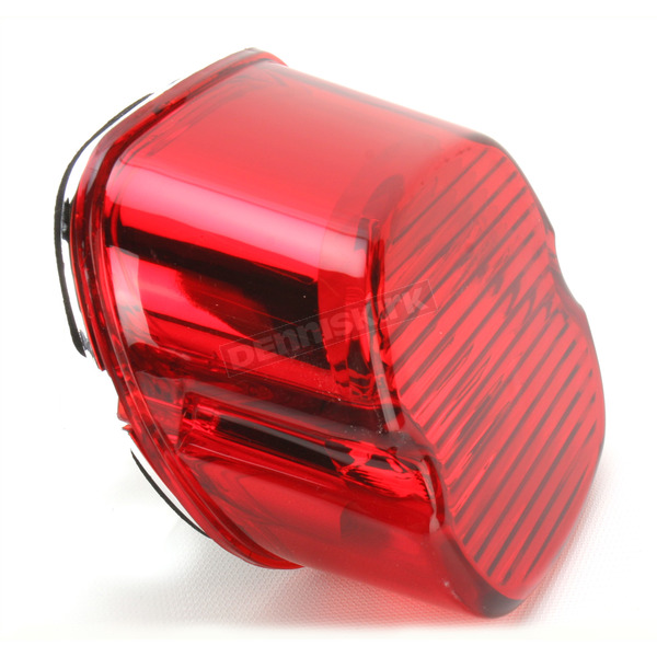 Drag Specialties Red Laydown Taillight Lens - 2010-0799