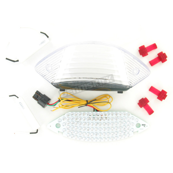 Advanced Lighting Integrated Taillight w/Clear Lens - TL-0111-IT