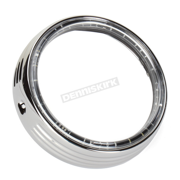 Kuryakyn Chrome LED Halo Headlight Trim Ring - 6917