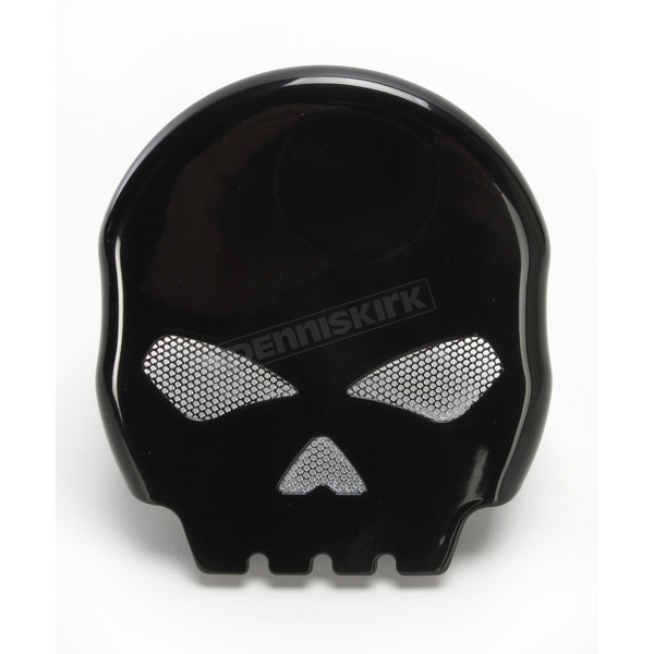V-Twin Manufacturing Black Skull Horn Cover - 42-5047