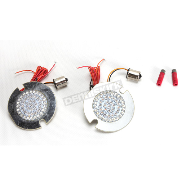 Custom Dynamics Amber/Red 1157 Cluster Flat LED Replacement Lights - GEN-200-AR2-F