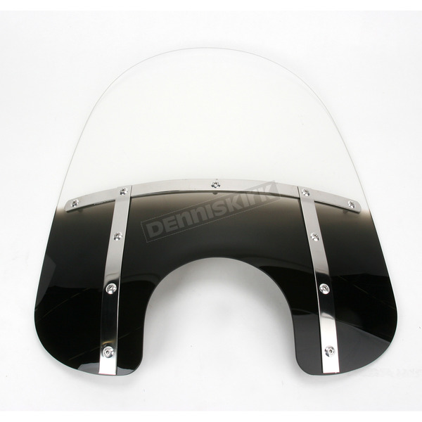 Memphis Shades Memphis Fats 19 in. Gradient Black Windshield for Standard 5 3/4 in. - 7 in. Headlights - MEM3311