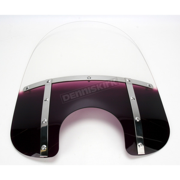 Memphis Shades Memphis Fats 19 in. Gradient Purple Windshield for Standard 5 3/4 in. - 7 in. Headlights - MEM3314
