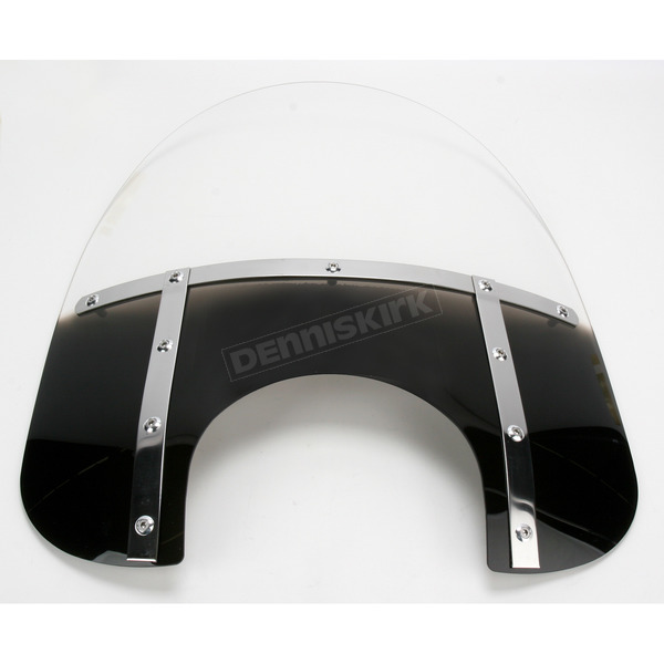 Memphis Shades Memphis Fats 13 in. Gradient Black Bobbed Windshield for 9 in. Headlight - MEM3511