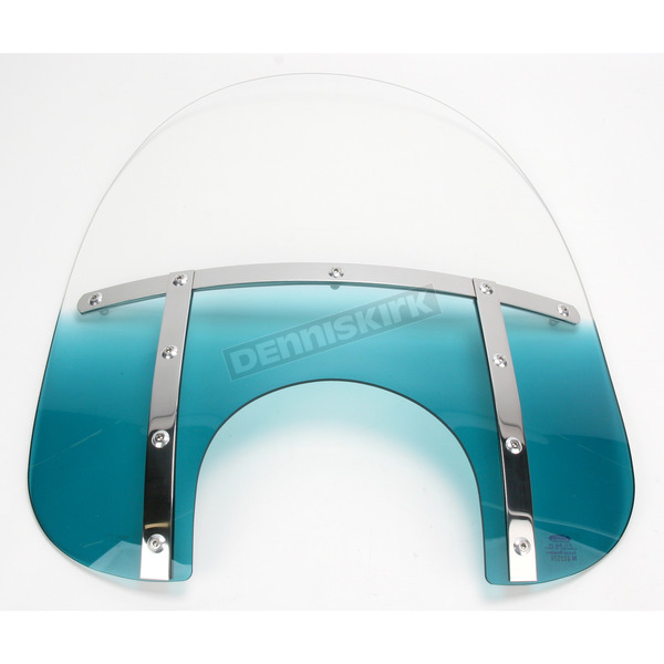 Memphis Shades Memphis Fats 21 in. Gradient Teal Windshield for 9 in. Headlight - MEM3813