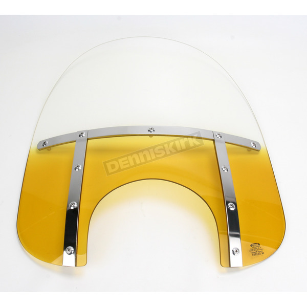 Memphis Shades Memphis Fats 17 in. Gradient Yellow Windshield for 9 in. Headlight - MEM3625