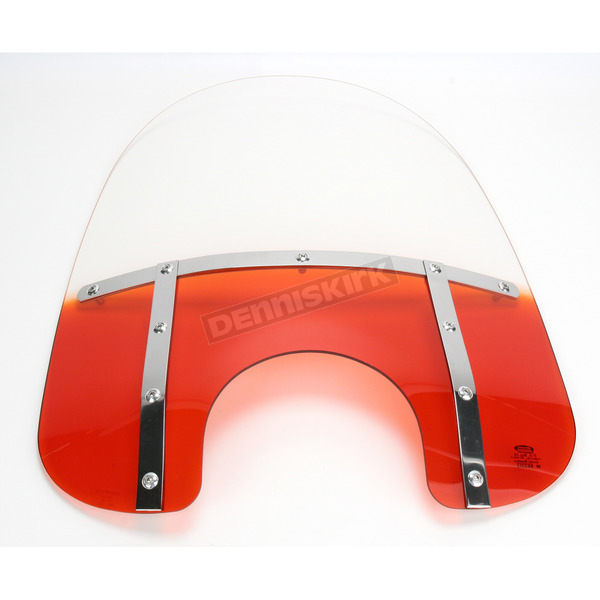 Memphis Shades Memphis Fats 21 in. Gradient Orange Windshield for Standard 5 3/4 in. - 7 in. Headlights - 2313-0014