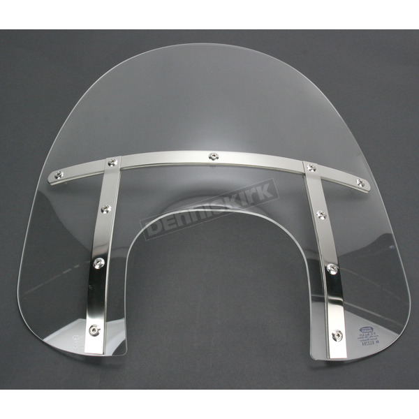 Memphis Shades Memphis Fats 19 in. Clear Windshield with 9 in. Headlight Opening for Big Nacelle Headlight - MEM6920