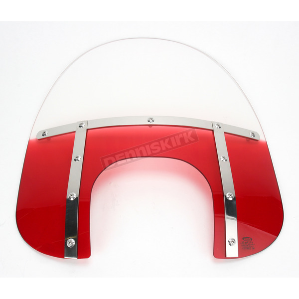 Memphis Shades Memphis Fats 17 in. Gradient Ruby Windshield with 9 in. Headlight Opening for Big Nacelle Headlight - MEM6822