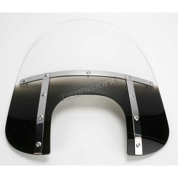 Memphis Shades Memphis Fats 17 in. Gradient Black Windshield with 9 in. Headlight Opening for Big Nacelle Headlight - MEM6821