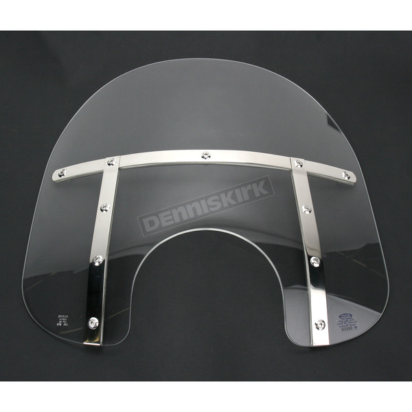 Memphis Shades Memphis Fats 15 in. Clear Windshield for Standard 5 3/4 in. - 7 in. Headlights - MEM3120