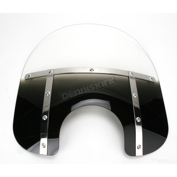 Memphis Shades Memphis Fats 15 in. Gradient Black Windshield for Standard 5 3/4 in. - 7 in. Headlights - MEM3121