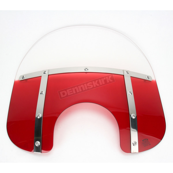 Memphis Shades Memphis Fats 15 in. Gradient Ruby Windshield for Standard 5 3/4 in. - 7 in. Headlights - MEM3122