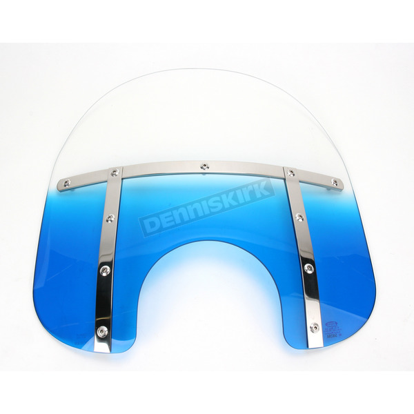 Memphis Shades Memphis Fats 15 in. Gradient Blue Windshield for Standard 5 3/4 in. - 7 in. Headlights - MEM3126