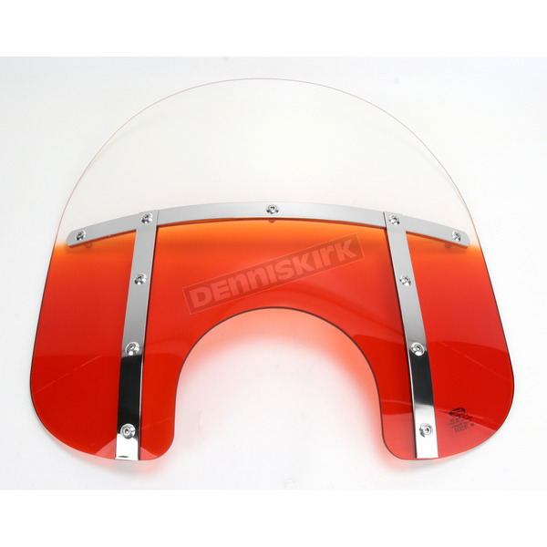 Memphis Shades Memphis Fats 15 in. Gradient Burnt Orange Windshield for Standard 5 3/4 in. - 7 in. Headlights - MEM3127