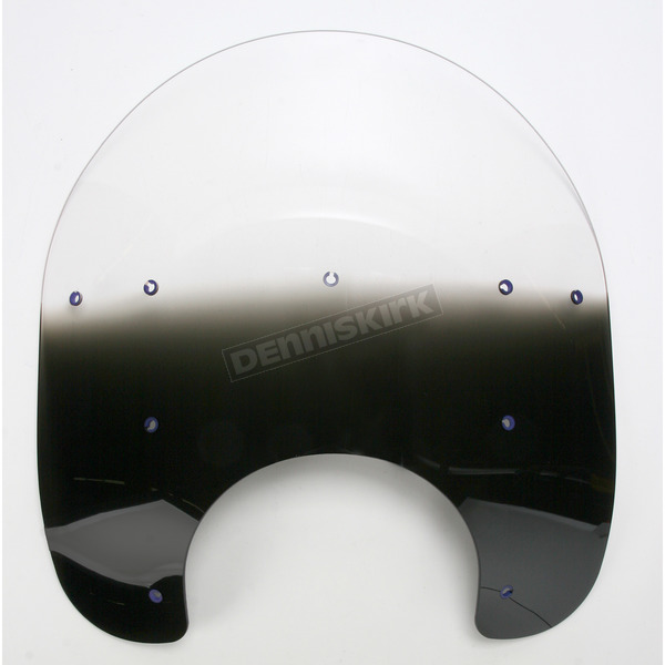 Memphis Shades 15 in. Replacement Gradient Black Plastic for use with OEM Harley-Davidson Hardware and 7 in. Headlight - MEP6121