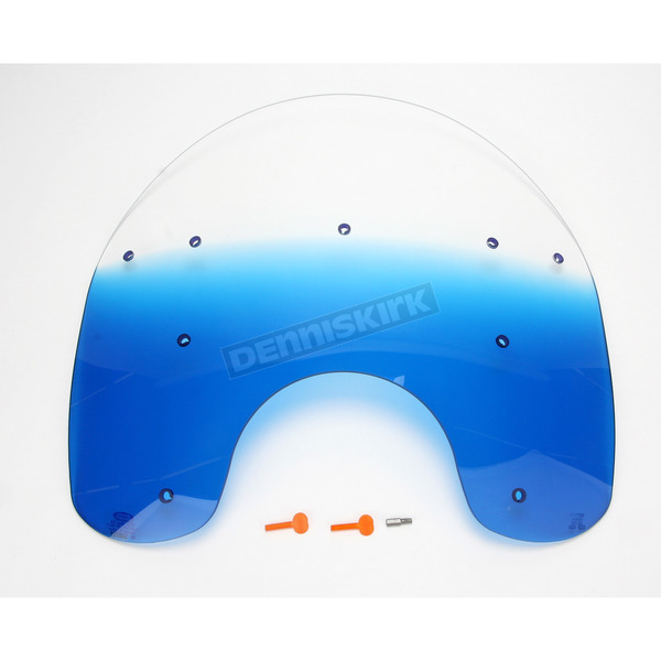 Memphis Shades 21 in. Replacement Gradient Blue Plastic for use with OEM Harley-Davidson Detachable King Size Windshield Hardware and 7 in. Headlight - MEP6466