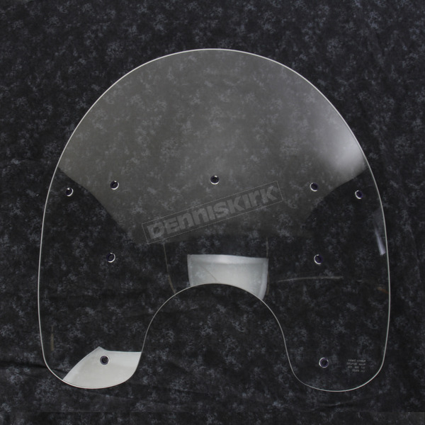 Memphis Shades 17 in. Replacement Clear Plastic for use with OEM Harley-Davidson Detachable King Size Windshield Hardware and 7 in. Headlight - MEP6260