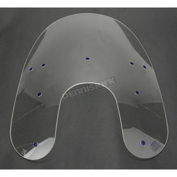 Memphis Shades 17 in. Replacement Clear Plastic for use with OEM Harley-Davidson Detachable Compact Windshield Hardware and 5 3/4 in. Headlight  - MEP6230