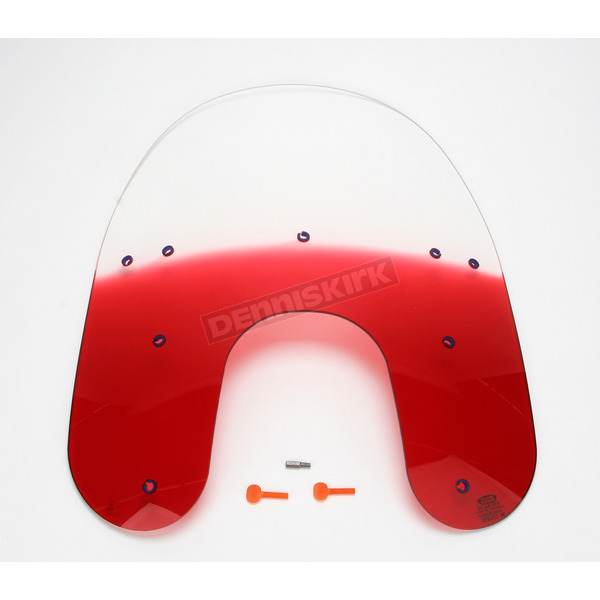 Memphis Shades Replacement Gradient Ruby Plastic for use with OEM Harley-Davidson Detachable Compact Windshield Hardware and 5 3/4 in. Headlight  - MEP6232